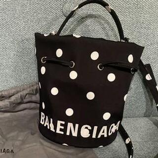 バレンシアガ(Balenciaga)のBALENCIAGA ドット ドローストリング バケットバッグ(ショルダーバッグ)