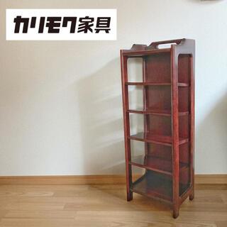 カリモクカグ(カリモク家具)のオールドカリモク  スリッパラック シューズラック 収納棚(玄関収納)