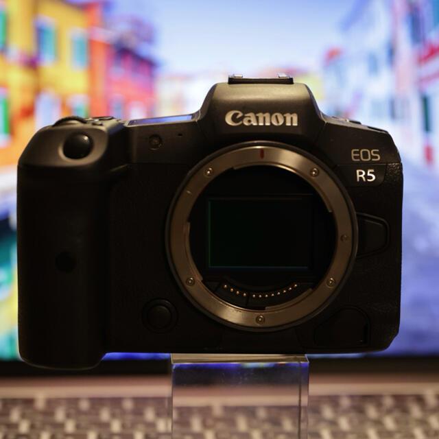Canon(キヤノン)の【極美品】CANON EOS R5 ボディ ミラーレス一眼 カメラ フルサイズ スマホ/家電/カメラのカメラ(ミラーレス一眼)の商品写真