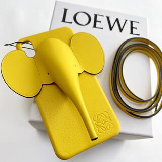 ロエベ(LOEWE)の【新品】LOEWE エレファント iPhoneX/XS ケース イエロー(iPhoneケース)