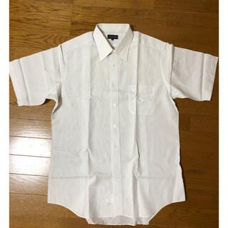 ランバン(LANVIN)のLANVIN!ランバン白半袖シャツ・サイズ43 Lぐらい(シャツ)