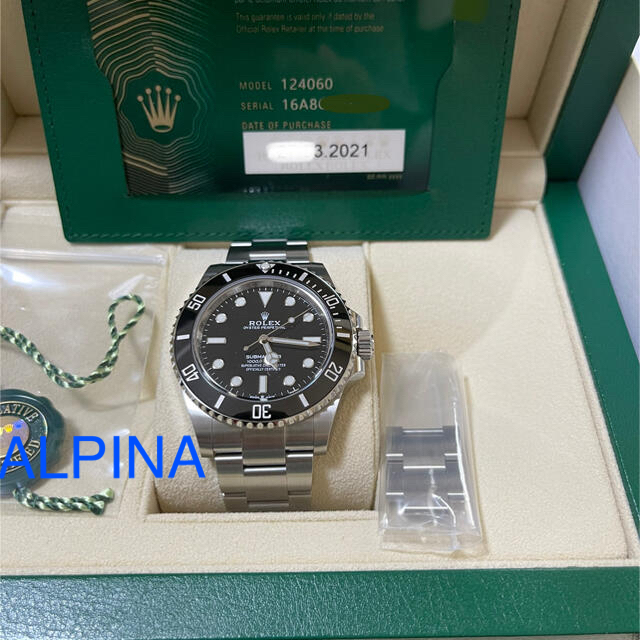 ROLEX(ロレックス)の〈本日限り特価〉ロレックス サブマリーナ ノンデイト新型 未使用品 メンズの時計(腕時計(アナログ))の商品写真
