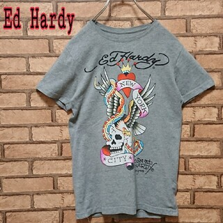 エドハーディー(Ed Hardy)のEd Hardy エドハーディー フロント プリント 半袖 Tシャツ(Tシャツ/カットソー(半袖/袖なし))