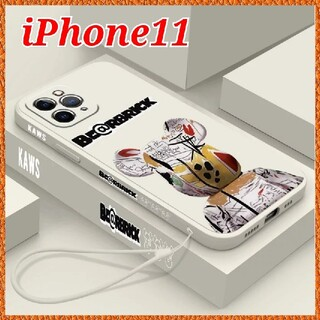 iPhone - iPhone11 ケース 【Kaws ベアブリック ホワイト】オシャレ 可愛い
