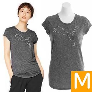 プーマ(PUMA)のPUMA ロゴ入り 半袖Tシャツ Mサイズ グレー系 プーマ レディース 女性用(Tシャツ(半袖/袖なし))
