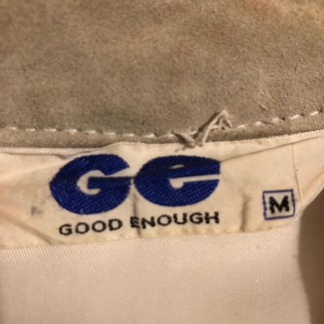 GOODENOUGH(グッドイナフ)の初期 97年 グッドイナフ  スエード JKT ベージュ 丸ポケ 藤原ヒロシ  メンズのジャケット/アウター(Gジャン/デニムジャケット)の商品写真