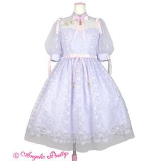 アンジェリックプリティー(Angelic Pretty)のShanghai Doll 限定色 ラベンダー OP クリップ(ひざ丈ワンピース)