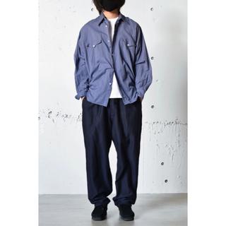 COMOLI - COMOLI 21AW ヨリ杢ワークシャツ 3 ブルー
