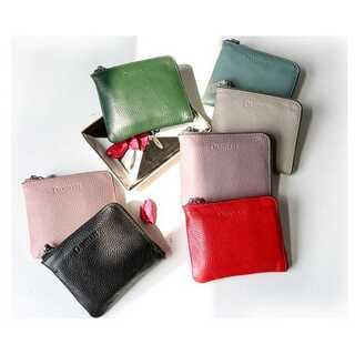 【ブラック】本革 ミニ財布 二つ折り財布 レディース