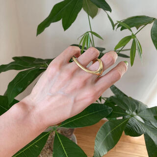 ジーヴィジーヴィ(G.V.G.V.)のdouble finger ring / gold / #101(リング(指輪))