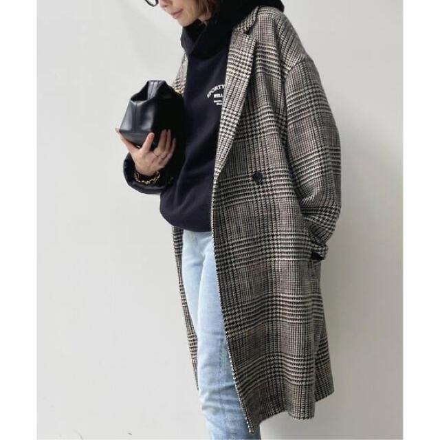L'Appartement DEUXIEME CLASSE(アパルトモンドゥーズィエムクラス)の新品・タグ付 L'Appartement【CHECK W COAT】 レディースのジャケット/アウター(ロングコート)の商品写真