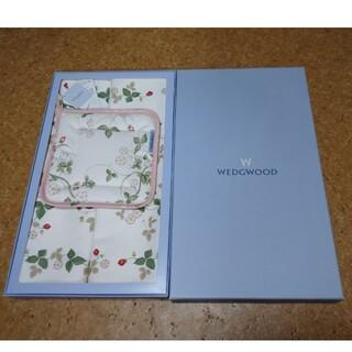 ウェッジウッド(WEDGWOOD)のウェッジウッド ワイルドストロベリー ポットホルダー テーブルマット セット(テーブル用品)