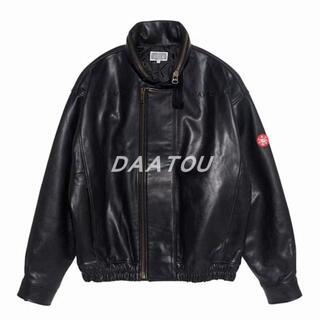 C.E Cavempt Leather Jacket ブラック メンズ レザージ