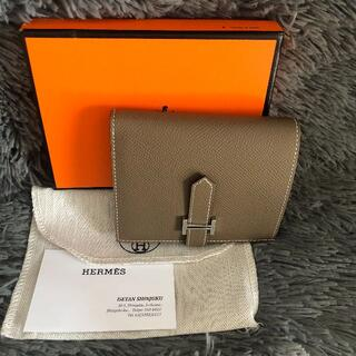 Hermes - HERMES べアン コンパクト 二つ折り財布