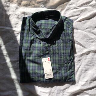 UNIQLO - 【新品未使用】エクストラファインコットンブロードチェックシャツ XL