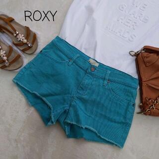 ロキシー(Roxy)のROXY ショートパンツ ホットパンツ エメラルドグリーン カットオフ(ショートパンツ)
