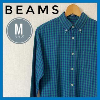 ビームス(BEAMS)のBEAMS ビームス 長袖シャツ チェック 緑 コットン100(シャツ)