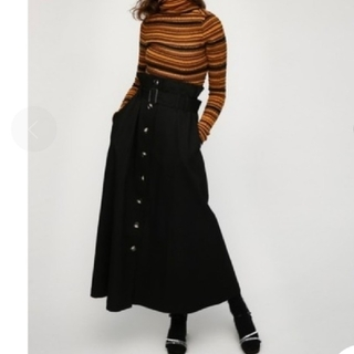 マウジー(moussy)のⅠ マウジー 未使用タグ付き フロント ボタン ロングスカート(ロングスカート)