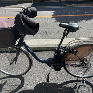 Panasonic - Panasonicの電動アシスト自転車(ビビ・DX) USブルー