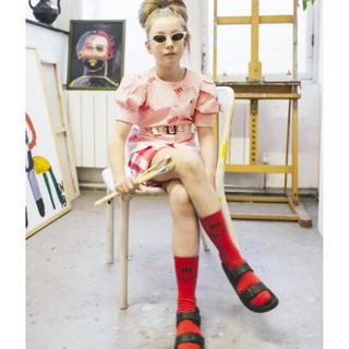 コドモビームス(こども ビームス)のビューラブズ6〜7y☺︎ソックス 靴下 赤 TAO、ボボ好きに(靴下/タイツ)