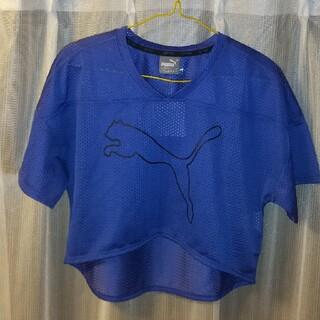プーマ(PUMA)の❬PUMA❭ 半袖Tシャツ  ショート丈 (Tシャツ(半袖/袖なし))