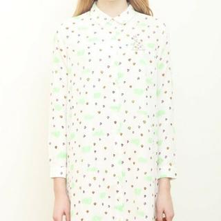 Design Tshirts Store graniph - graniph わたしのワンピースダブルガーゼシャツワンピース/お花畑