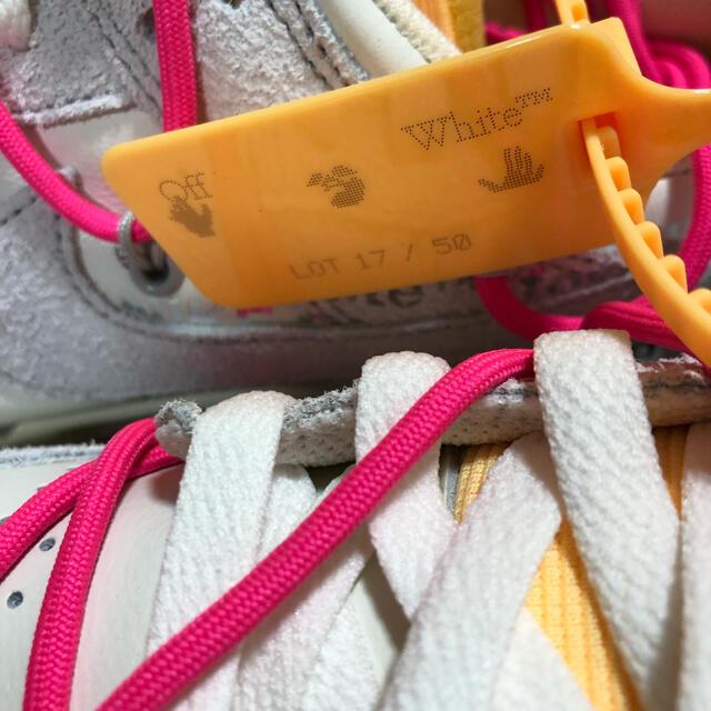 "OFF-WHITE(オフホワイト)のOFF-WHITE × NIKE DUNK LOW 1 OF 50 ""17"" メンズの靴/シューズ(スニーカー)の商品写真"