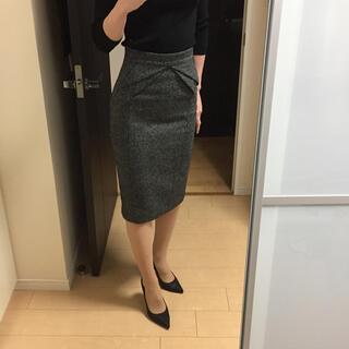 グッチ(Gucci)のGUCCI ウール シルク スカート(ひざ丈スカート)