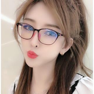 【週末限定価格】PCメガネ スマホ眼鏡 ブルーライトカット 黒・ピンク ボストン
