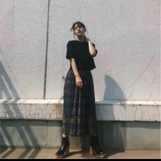 マウジー(moussy)のmoussy  レーススカート(ひざ丈スカート)