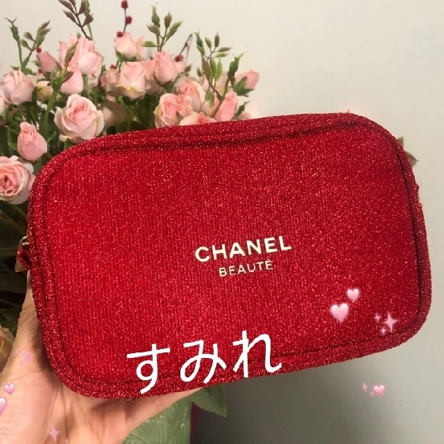 CHANEL(シャネル)の♥️シャネル ポーチ ⭐クリスマス限定★ レッド 箱付き レディースのファッション小物(ポーチ)の商品写真