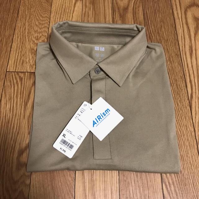 UNIQLO(ユニクロ)の新品タグ付き ユニクロ エアリズムヒヨクエリポロシャツ(半袖) メンズのトップス(ポロシャツ)の商品写真