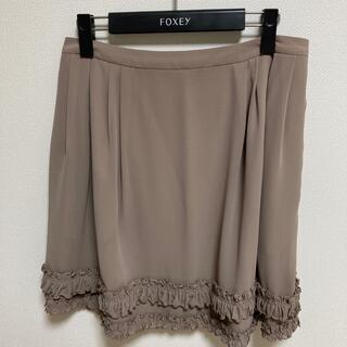 フォクシー(FOXEY)のFOXEY NEWYORK ダブルフリルスカート(ひざ丈スカート)