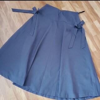 ストロベリーフィールズ(STRAWBERRY-FIELDS)のストロベリーフィールズ サイドリボン スカート(ひざ丈スカート)