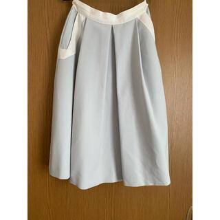 ランバンオンブルー(LANVIN en Bleu)のLANVIN EN BLEU スカート 青 膝丈 ランバンオンブルー(ひざ丈スカート)