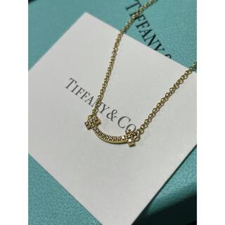 Tiffany & Co. - ティファニー Tスマイル(ミニ) ダイヤ ネックレス イエローゴールド