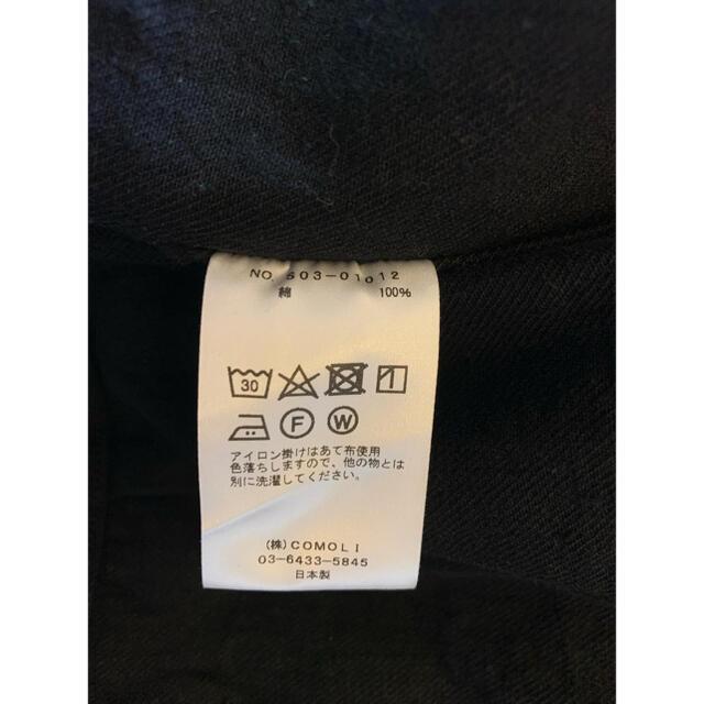 COMOLI(コモリ)の新品未使用COMOLIデニムジャケットブラック20AWサイズ1コモリ メンズのジャケット/アウター(Gジャン/デニムジャケット)の商品写真