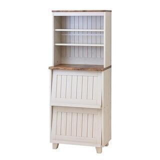 カントリースタイル フラップキャビネット 食器棚/収納棚 高さ150