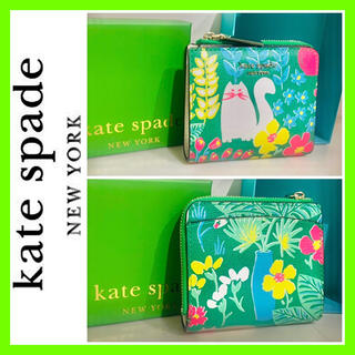 ケイトスペードニューヨーク(kate spade new york)の箱あり■高島屋購入■kate spade new york 財布 ネコ 猫 限定(財布)