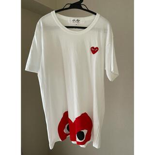 コムデギャルソン(COMME des GARCONS)の送料無料 PLAYコムデギャルソン ハート ホワイト Tシャツ 着用回数2回(Tシャツ/カットソー(半袖/袖なし))