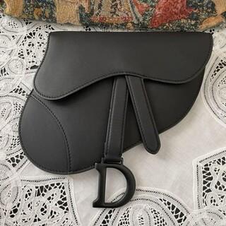 クリスチャンディオール(Christian Dior)のDIOR サドル ベルトバッグ マットブラック(ハンドバッグ)