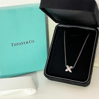 Tiffany & Co. - 定価20万★ティファニー ダイヤネックレス クロスステッチ