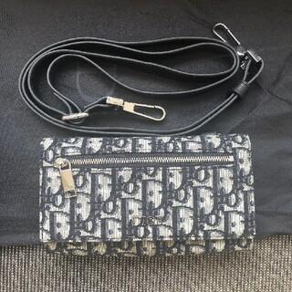 クリスチャンディオール(Christian Dior)の国内完売 ディオール オブリークジャガード メンズ ストラップウォレット(ショルダーバッグ)