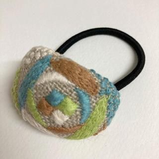 mina perhonen - ミナペルホネン ヘアゴム handmade sand rose グリーン