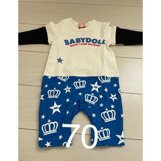 ベビードール(BABYDOLL)の70サイズ 新品 重ね着風ロンパース BABYDOLL(ロンパース)