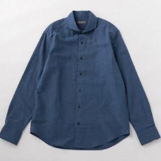 ユナイテッドアローズ(UNITED ARROWS)の【新品タグ付】UNITED ARROWS 長袖シャツ ロイヤルブルー XLサイズ(シャツ)