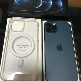 Apple - 【SIMフリー】iPhone12 Pro 256G ブルー Apple純正ケース