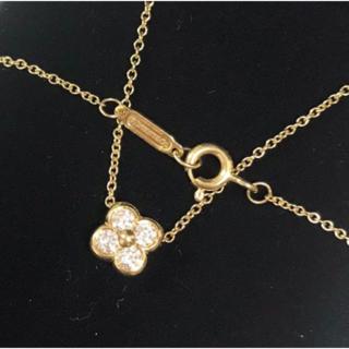 Tiffany & Co. - ダイヤモンド 4P ベゼルセット フラワー ネックレス ペンダント