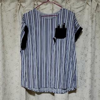 Design Tshirts Store graniph - graniph バックボタンポケットTシャツ リフティングビューティフルシャドー