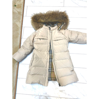 BURBERRY - 極美品 バーバリーダウンコート ジャケット ベージュ 110~120